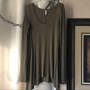 Flowy Olive Green Free People Tunic